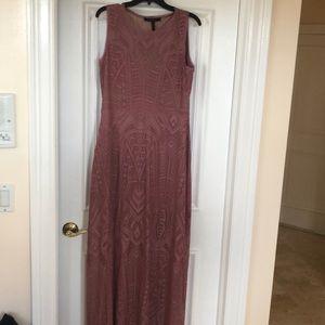 Mauve floor length party dress
